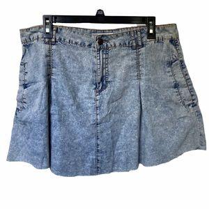 5/$20 Adam Levine blue acid wash mini skirt 13 14